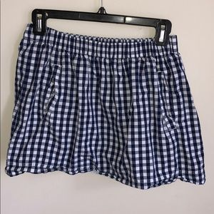 J. Crew Factory navy gingham skirt